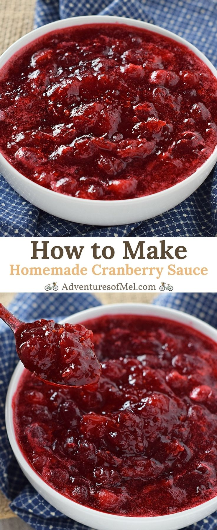 Homemade Cranberry Sauce made from scratch using fresh