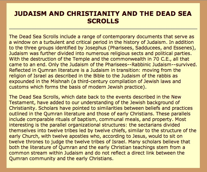 an overview of the dead sea scrolls as biblical books and texts A bird's-eye view of fifty years of dead sea scrolls of biblical texts on year history of scrolls research he presents an overview of the.
