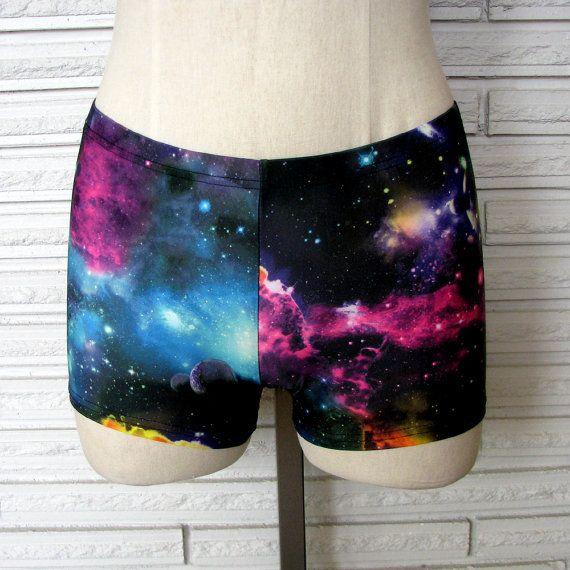Galaxy Dance Shorts, Booty Shorts, Gym Shorts, sizes XXS - L