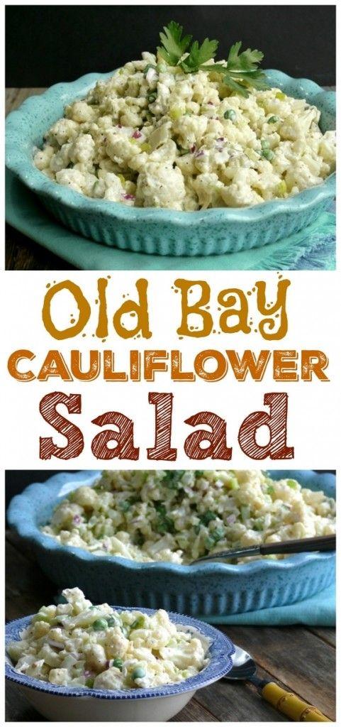 Old Bay Cauliflower Salad No peas, add egg and bacon