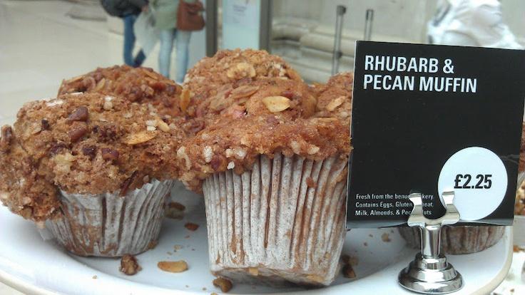 Rhubarb & Pecan Muffin, Benugo