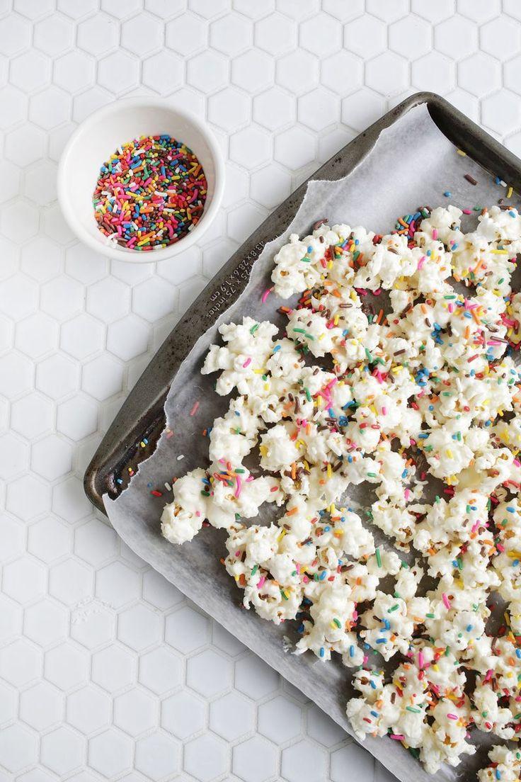 Gimmie! Birthday cake popcorn! via | A Beautiful Mess