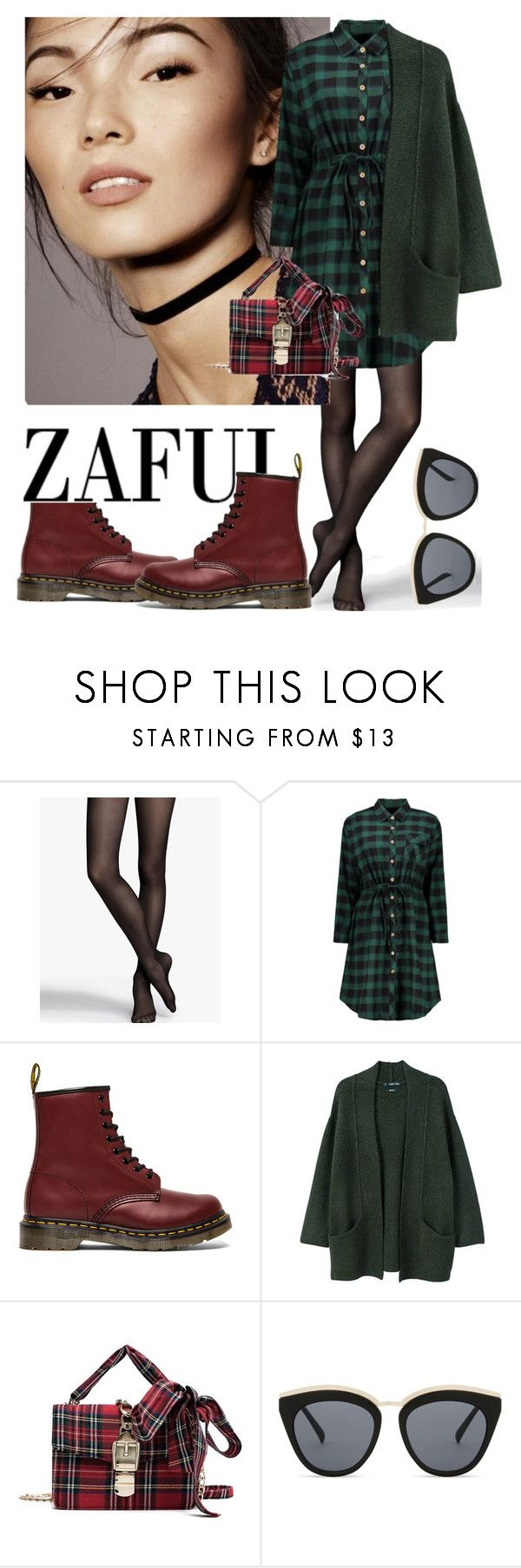 """""""Casual Autumn Outfit"""" by brownbounty ❤ liked on Polyvore featuring Express, Dr. Martens, MANGO and Le Specs"""