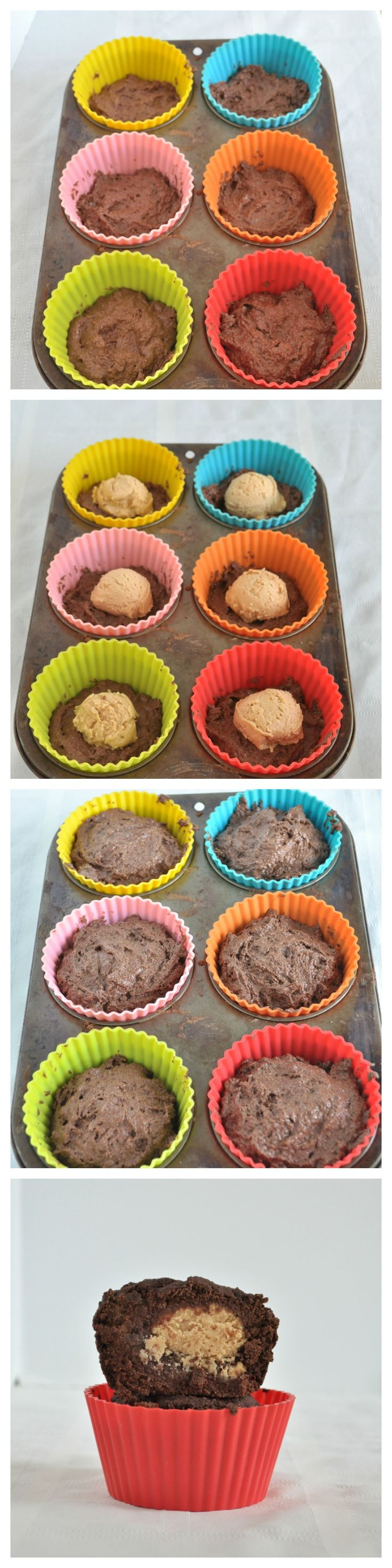Peanut Butter Cup Muffins. Start to finish in less than 25 minutes. A healthy muffin recipe that tastes like dessert. Vegan and gluten free.