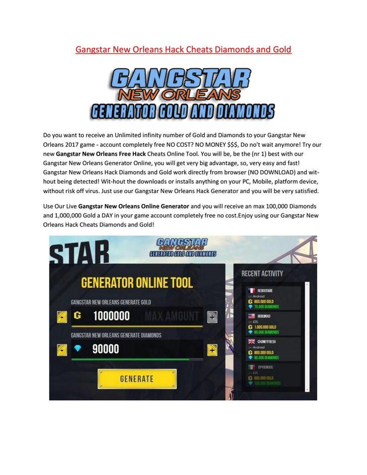 Gangstar new orleans hack Tool online generator