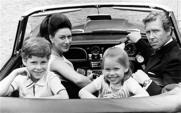 Princess Margaret and Lord Snowdon head off on a driving holiday with their children, David and Sarah, in 1970.