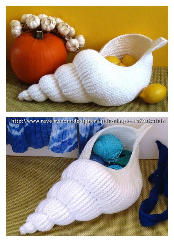 'Spiral shell' Crochet Basket Pattern