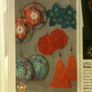 Crochet earrings, Crochet and Earrings on Pinterest