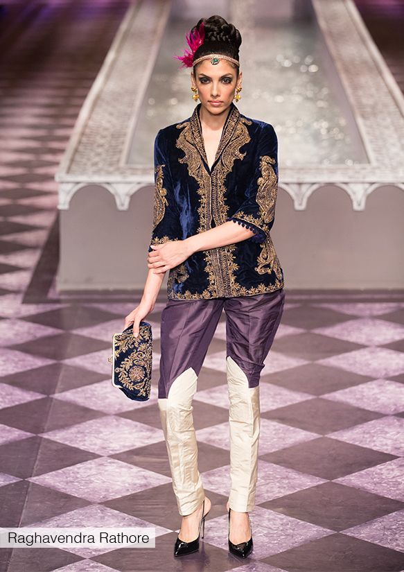 Raghavendra Rathore's signature style style woven into an edgy fashion story