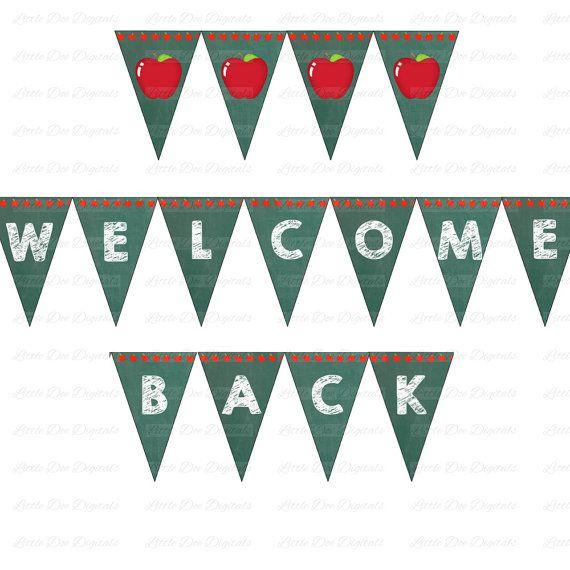 welcome back to school signs grades preschool 5th school