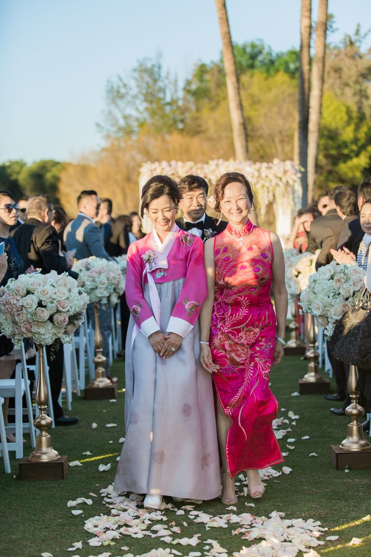 Korean And Chinese Mothers Of The Bride And Groom Dresses
