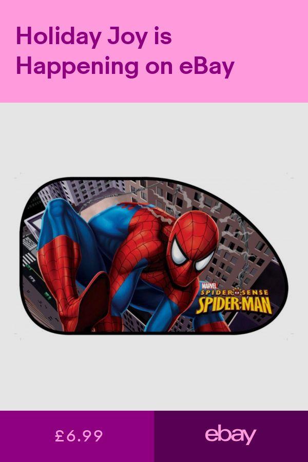2 X Spider Man Large Disney Car Sun Shade Uv Kids Baby