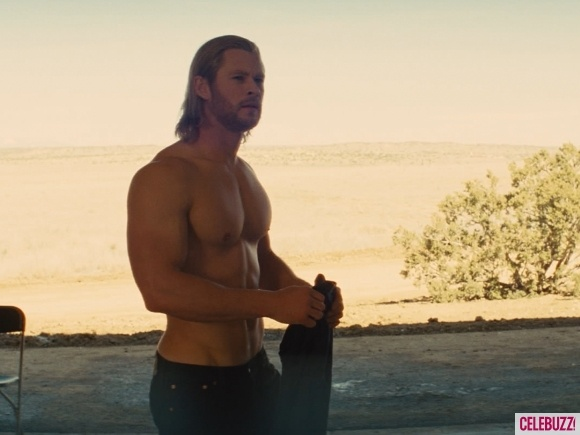 I loved the movie Thor before it got to this scene.  But dear god, shirtless Chris Hemsworth certainly didn't hurt!