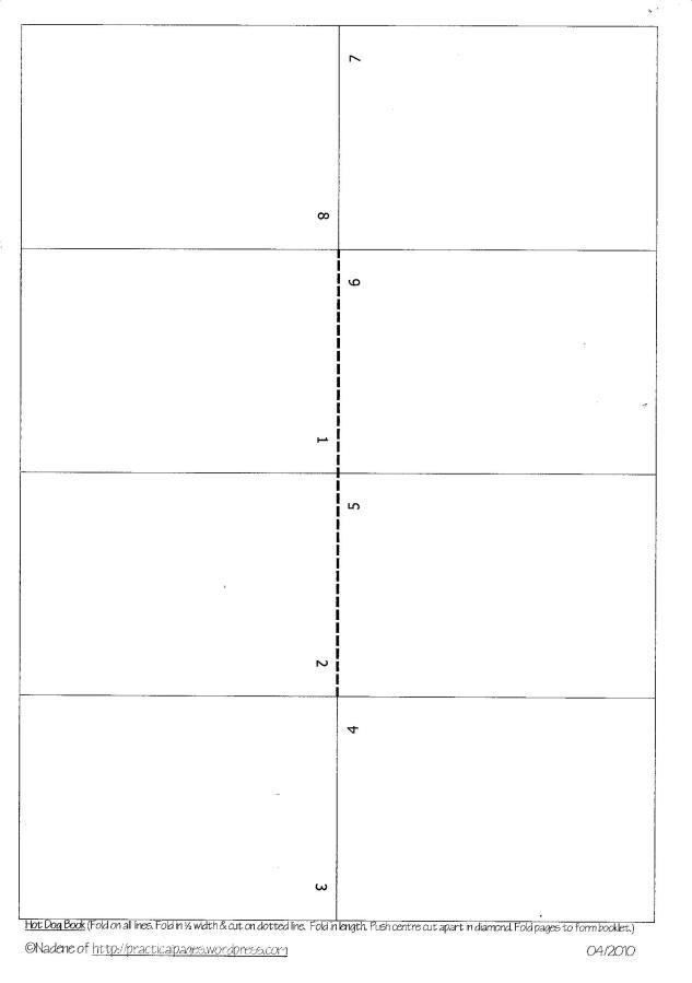 Crush image with free printable mini book template