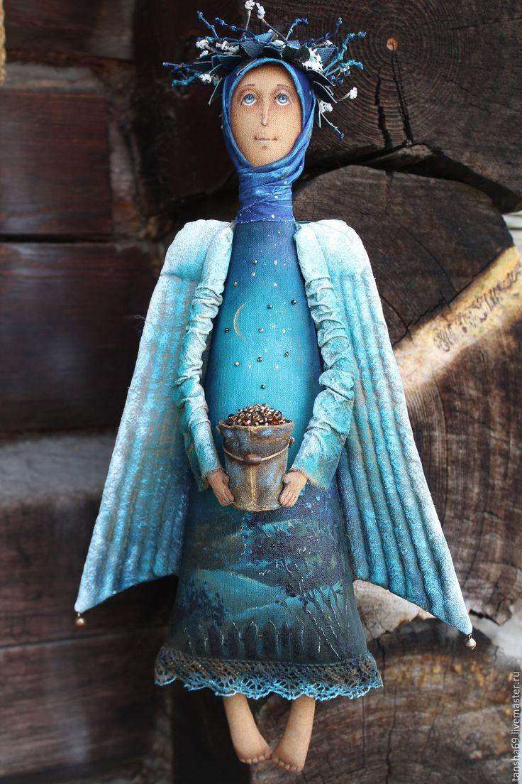Купить Звездопад.Ангел... - комбинированный, текстильная кукла, ароматизированная кукла, интерьерная кукла, ангел, ткань