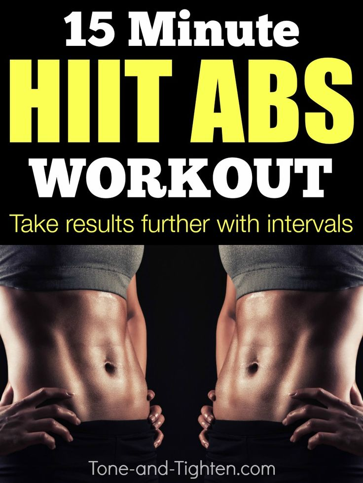 Shred your abs at home with this 15-Minute HIIT ab workout! From Tone-and-Tighten.com