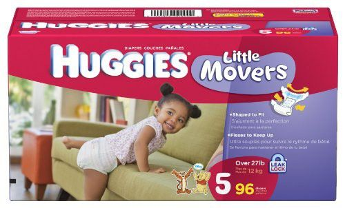 Huggies Little Movers Diapers, Size 5, 96-Count