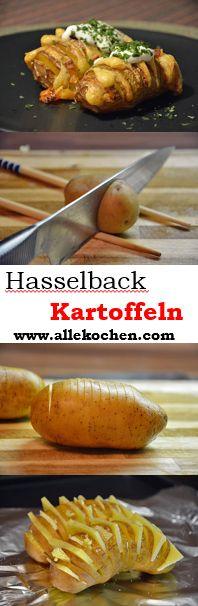 Hasselback-Kartoffeln mit Käse sind eine wirkliche Alternative zu Pommes.