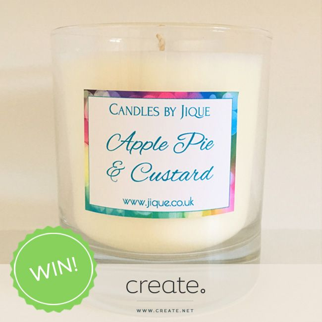 #WIN an amazing apple pie and custard scented candle from the wonderful online store jique.co.uk. Enter on the Create Facebook page facebook.com/create
