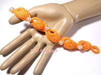 Tina's handicraft : how to make crocheted bracelet