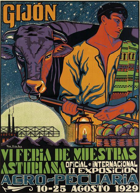 By Tyno Uria Aza (1905-?), 1929, Gijón, VI Feria de Muestras Asturiana,