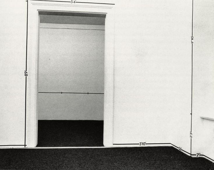 Cave to Canvas, Mel Bochner, Measurement, 1969 In this piece,...