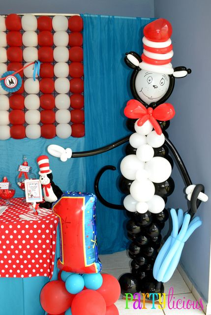 """Photo 3 of 29: Dr. Seuss / Birthday """"{Cat in the Hat Birthday}"""" 