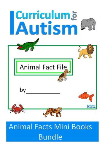 Animal Fact File Mini Books Bundle, Autism & Special Education