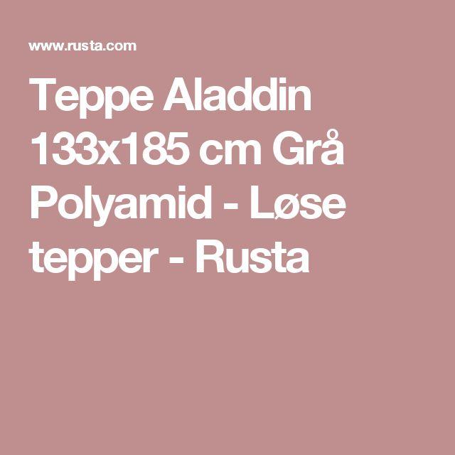 Teppe Aladdin 133x185 cm Grå Polyamid - Løse tepper - Rusta