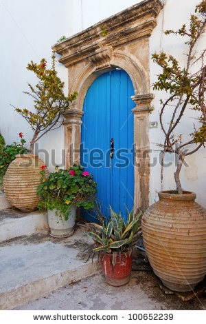 Old Door Of Mansion At Kythera Isla  Greece