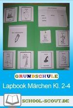 Lapbook zum Thema Märchen für die Grundschule, das sich für das selbständige und individualisierende Lernen eignet.