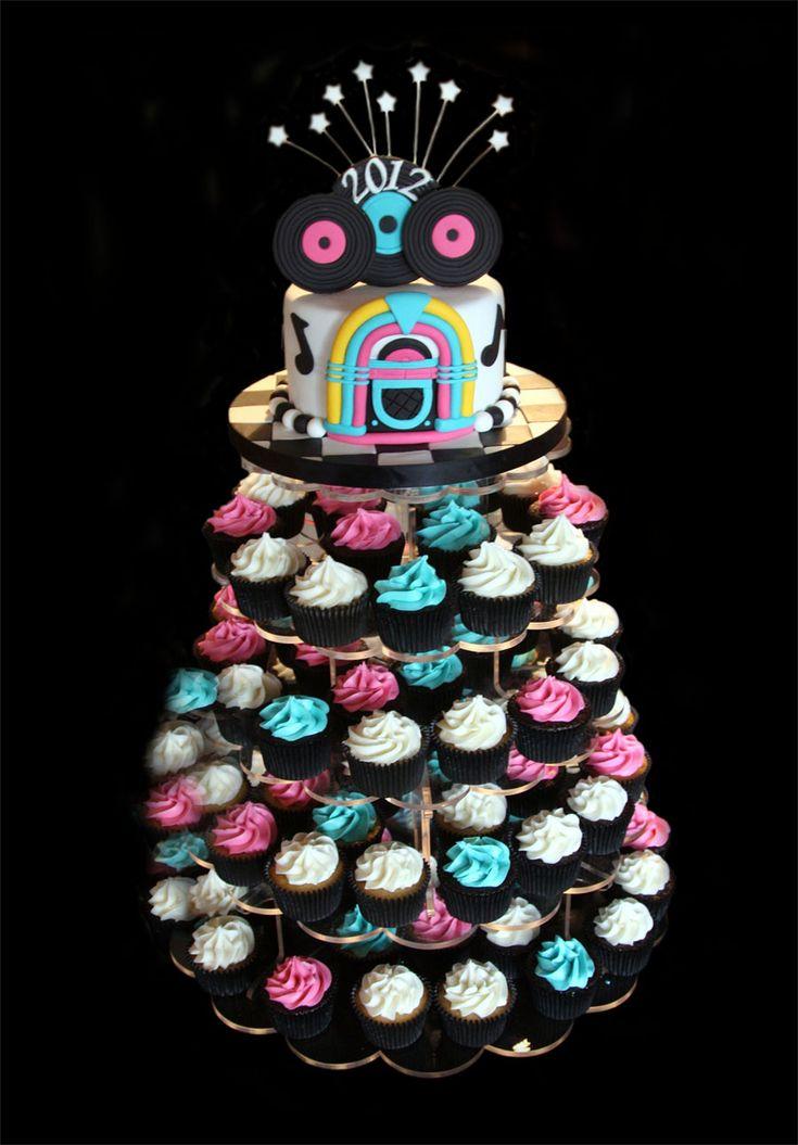 50s wedding theme ideas | CF_50s_Theme_Graduation_cake_and_Cupcakes.jpg