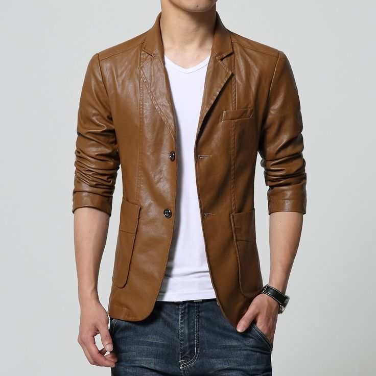 30 best Mens Leather Blazers images on Pinterest | Leather blazer ...