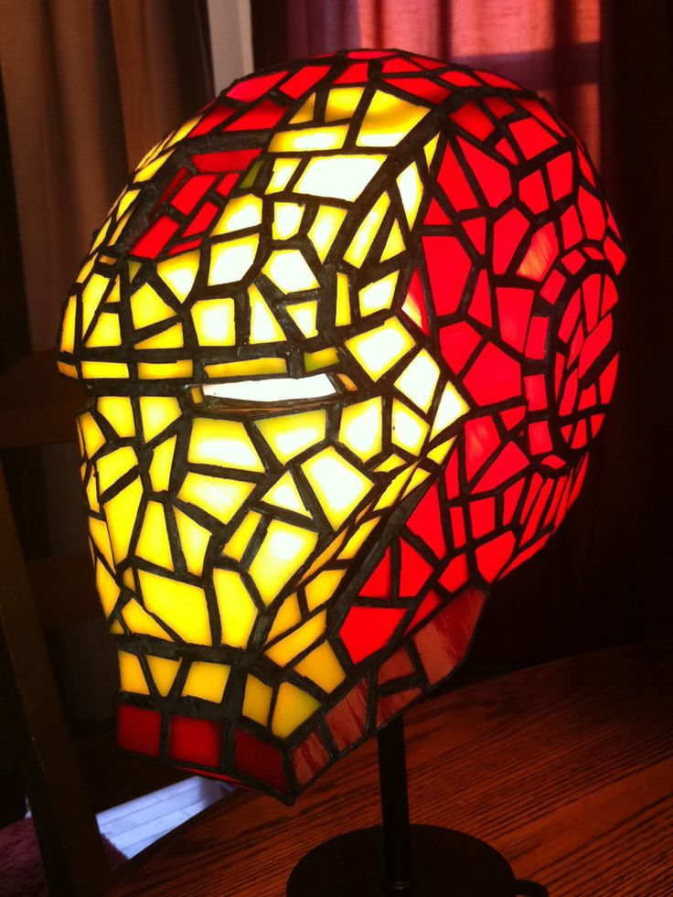 Amazing Iron Man... sorry Invincible Iron Man stained glass lamp by this guy: http://mclanesmemories.deviantart.com/