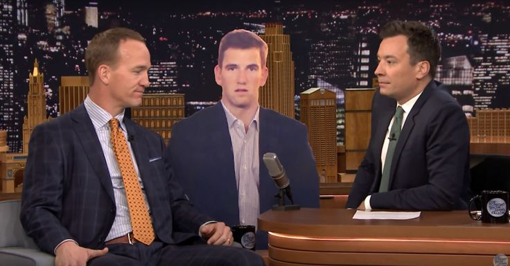 Peyton Manning explains his brother Eli's depressed Super Bowl face. | During Wednesday's 'Tonight Show' Super Bowl 50 winner Peyton Manning talked with Jimmy Fallon about the now viral expression his brother Eli made during the game.