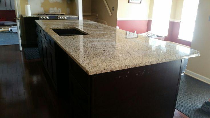 Giallo Ornamental Light Granite Kitchen Countertop Install Knoxville 39 S Stone Interiors