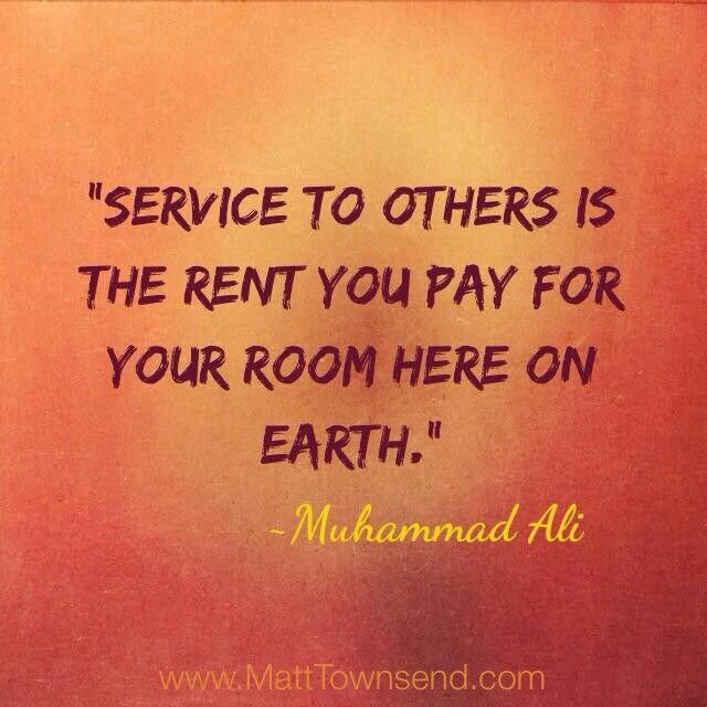 Service to others...