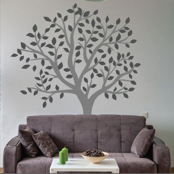 Großer Baum Wandtattoo Aufkleber Wohnzimmer Wand in 2020