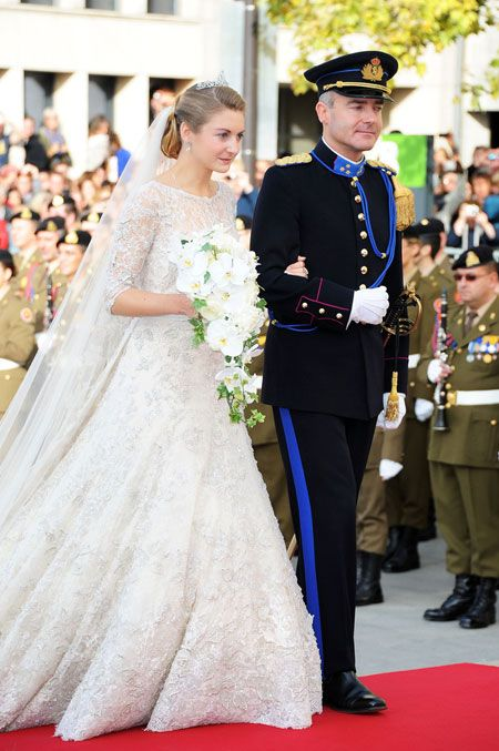 Princess Stephanie of Luxembourg In Elie Saab