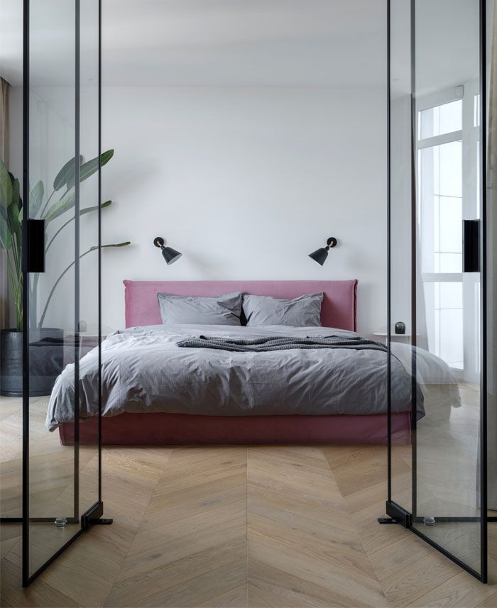 Open Plan Apartment Separated Only with Glass Panels