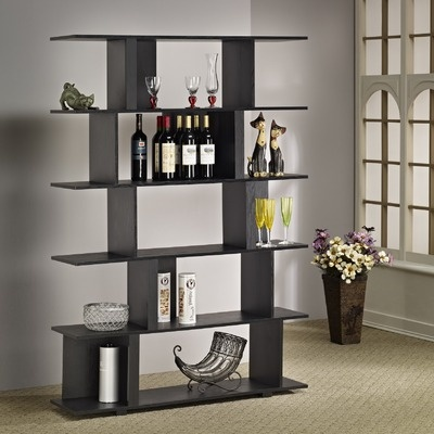 Hokku Designs Fuzion Bookcase/Display Stand in Black: Bookcases Display Stands, Fuzion Bookca Display, Fuzion Bookcases Display, Books Shelves, Bookca Display Stands, Bookcasedisplay Stands, Fuzion Bookcasedisplay, Black Bookca, Design Fuzion