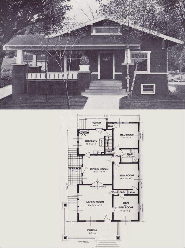 84 best Bungalow Plans images on Pinterest Craftsman bungalows - bungalow floor plans