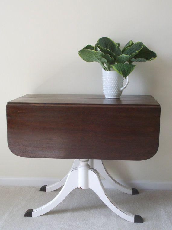 Painted Drop Leaf Duncan Phyfe Table | Duncan Fife Drop Leaf Table
