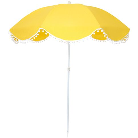Sunshine Yellow umbrella #pompom #summer