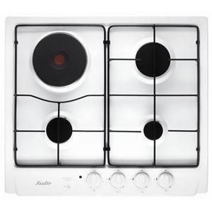 SAUTER - STE117W _ Table de cuisson Gaz - 1 foyer rapide 3,1 kW - Allumage intégré aux manettes - Sécurité gaz par thermocouple - Grilles émaillées.