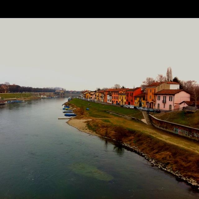 Po river, Pavia.