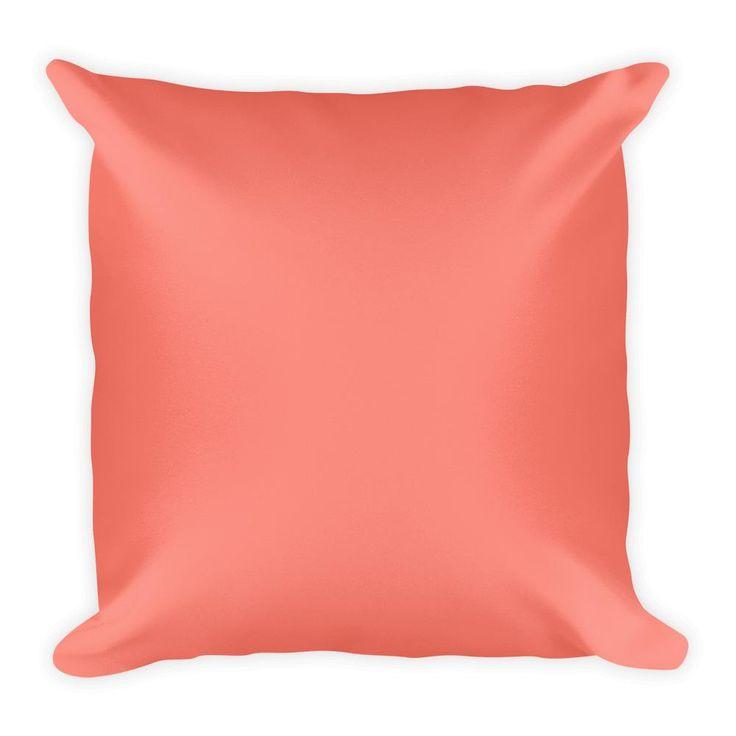 Salmon Square Pillow
