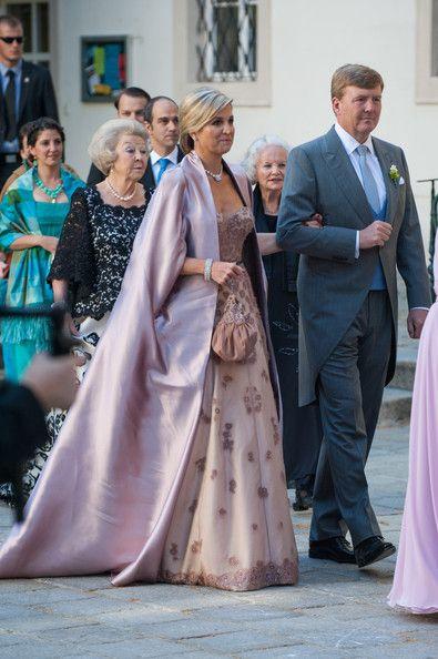 King Willem-Alexander Princess Beatrix of The Netherlands, King Willem-Alexander and Queen Maxima of The Netherlands attend Juan Zorreguieta...