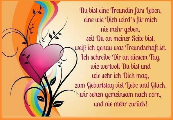 Geburtstag beste gedicht freundin 49+ Sprüche