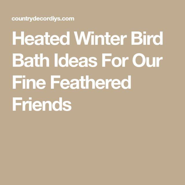 Heated Winter Bird Bath Ideas For Our Fine Feathered Friends